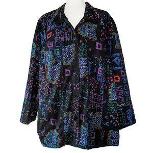 Vintage Liz & Me 90s Pattern Jacket